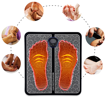 Nivel de intensidad del masajeador de pies